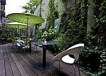 Terrace at the feet of Buda Royal Castle in Budapest - Hotel Lanchid 19 in Budapest