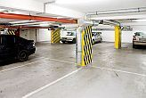 Closed parking for guests in Budapest - Deep garage of City Hotel Budapest - apartmenthotel in heart of Budapest
